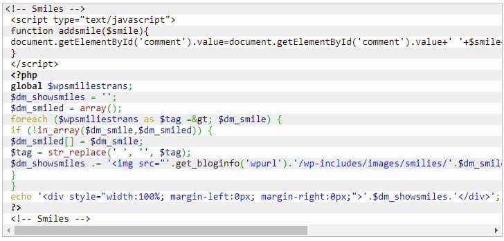 код для вывода смайлов