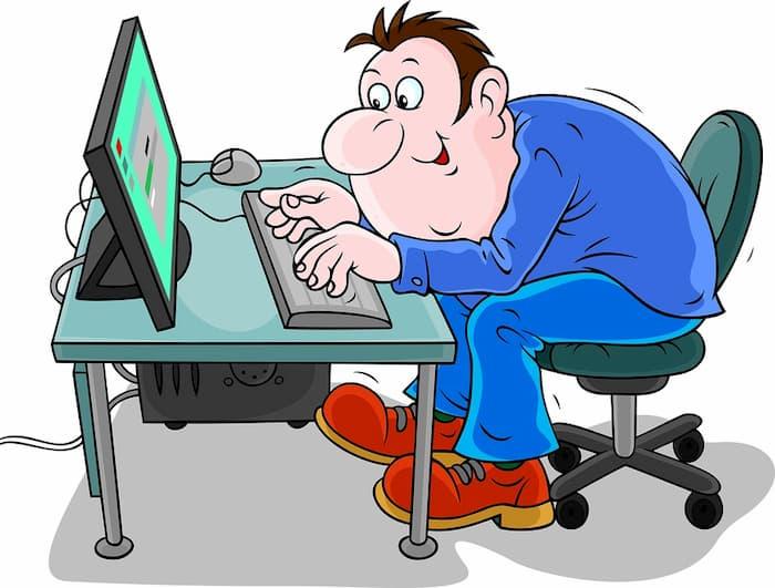 блоггер за работой