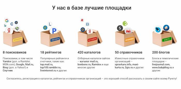 регистрация в каталогах ссылок в сервисе 1ps.ru
