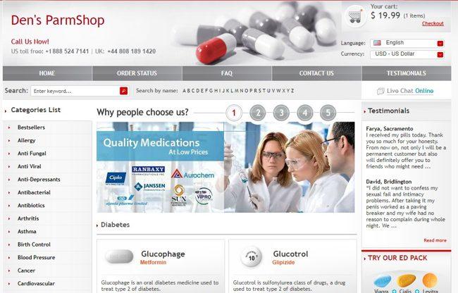 Фармакологический магазин созданный в ParmCash
