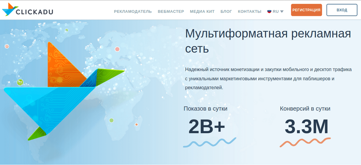 Рекламная сеть Clickadu.com
