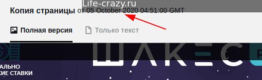 Просмотр даты индексации в Яндекс