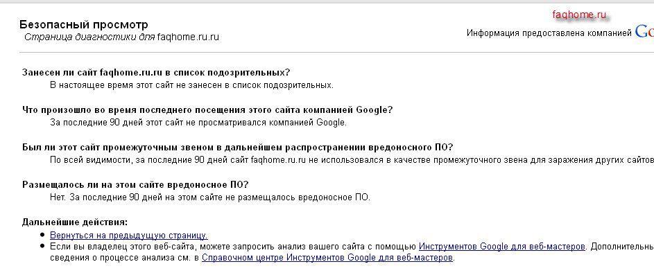 Результаты Гугла