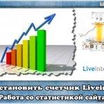 Установка счетчика Liveinternet. Использование основных разделов для анализа.