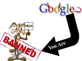 Бан в google