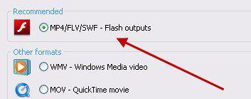 Формат сохранения видео
