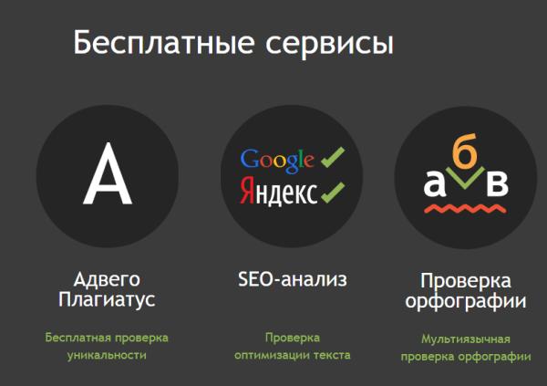 бесплатные сервисы по проверке контента