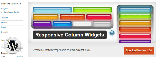 Responsive Widgets