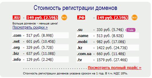 сервис 2domains