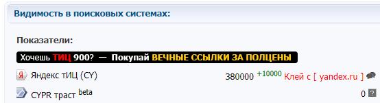 обман при покупке домена - ТИЦ клей с другим сайтом