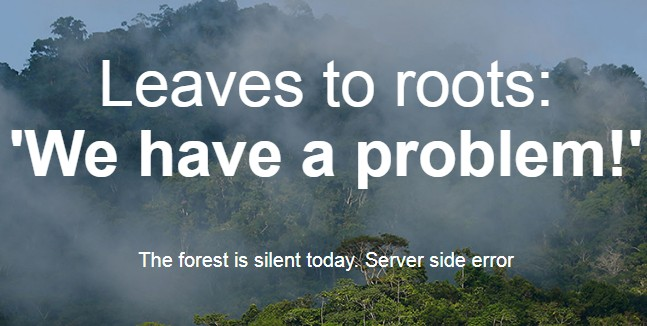 Ошибка при заходе на Ecosia